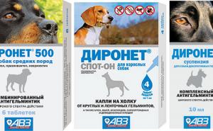 Как применять Диронет для выведения паразитов у собак, и какую форму лекарства выбрать?