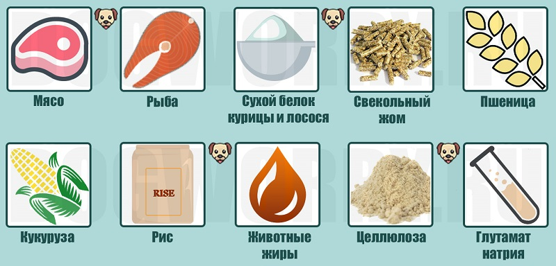 Состав корма Проплан для собак