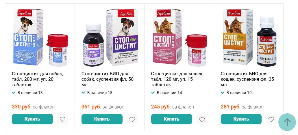 Цена Стоп Цистит для собак