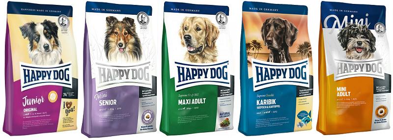Разновидность корма Happy Dog для собак