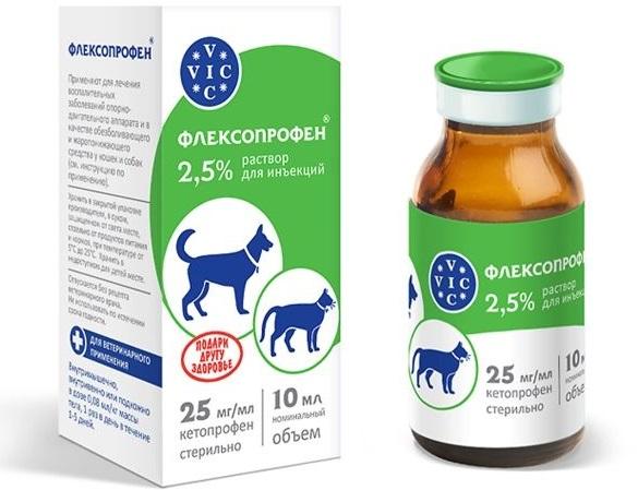 О препарате Флексопрофен для собак