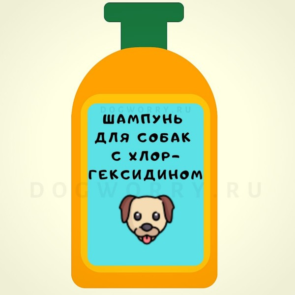 Тюбик шампуня для собак