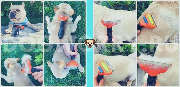 Использование фурминатора для собак
